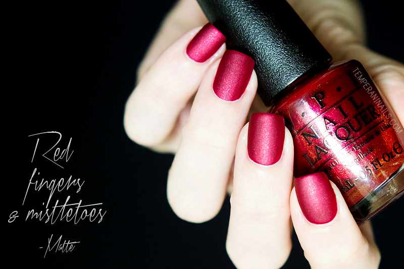 OPI Red Fingers & Mistletoes MATTE