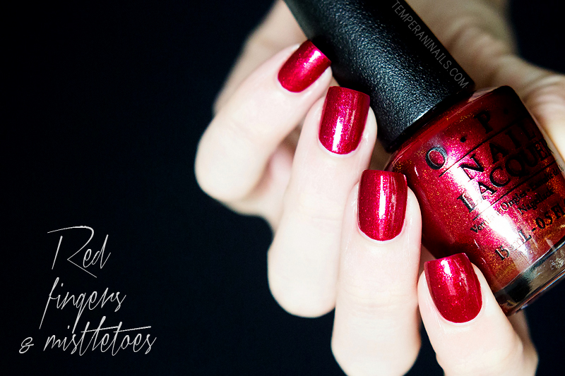 OPI Red Fingers & Mistletoes