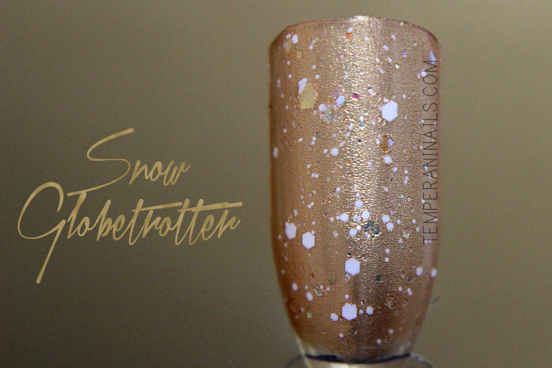 OPI snow globetrotter swatch